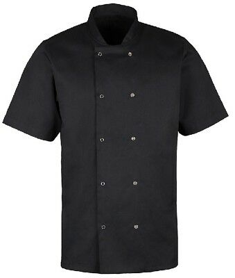 Alexandra Short Sleeve Chef Cook Cafe Kitchen Hospitality Catering Jacket - HO10