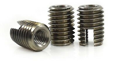 Stainless Steel Slotted Self Tapping Threaded Inserts Tappers M3 M4 M5 M6