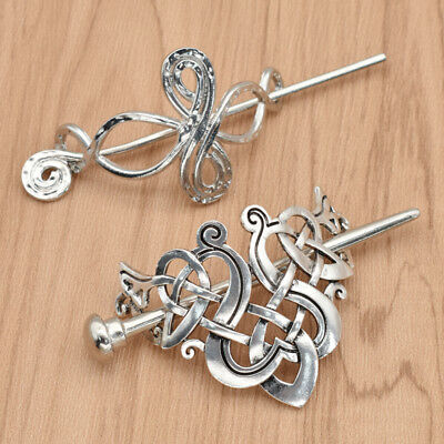 Celtic Knots Clips Hairpin Charm Alloy Hair Stick Women Girl Hair Accessories