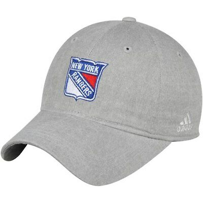 reputable site 0cf32 ad038 adidas New York Rangers Women s Gray Heather Slouch Adjustable Hat