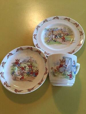 Vintage 1950s Royal Doulton Bunnykins Cup, Saucer & Plate
