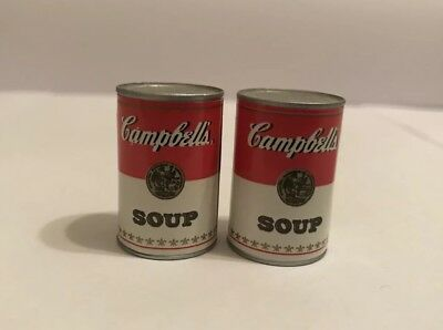 Vintage Miniature Toy Tin Can Plastic  Campbells Soup Cans