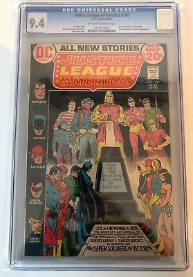 Justice League Of America #100 - Cgc 9.4 - Ow/w Pages - Seven Soldiers + Jsa App