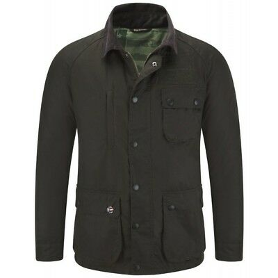 Barbour International Steve McQueen Men's Thomas Waxed Jacket - Olive
