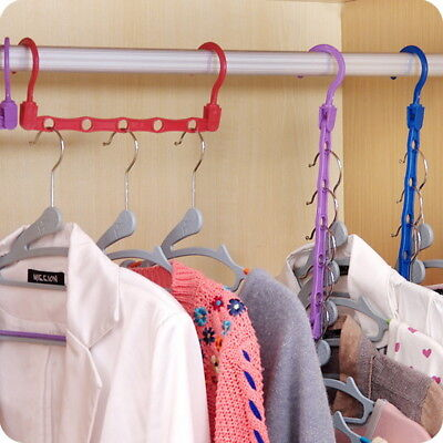 Random Multi-function Home Hanger Holder Hook Closet Clothes Rotating Organizer