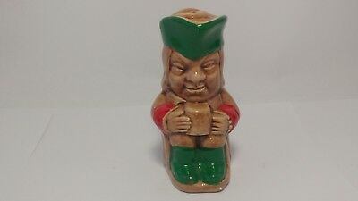 "Vintage Toby Jug Style Mini / Small Flask - 3 1/4"" In Height"