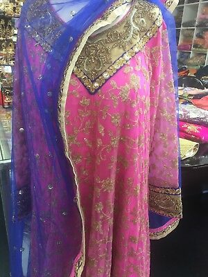 pink readymade suit size 48 with heavy dupatta party or wedding wear