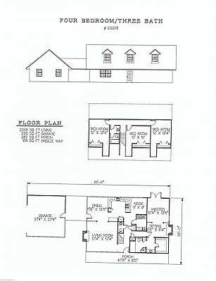 2268 square foot four bedroom house plan