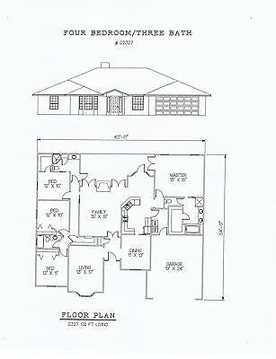 2327 square foot four bedroom house plan