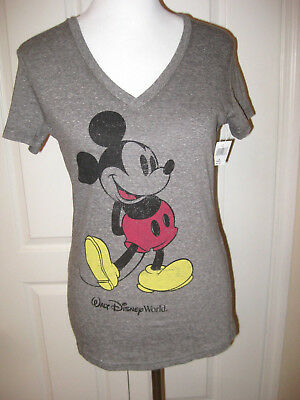 c3cf99bc NEW WOMEN'S DISNEY Parks Mickey Mouse Tee T Shirt Small Gray NWT ...