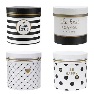 Round Flower Paper Boxes Korean Print Hug Bucket with Lid Gifts Package Box
