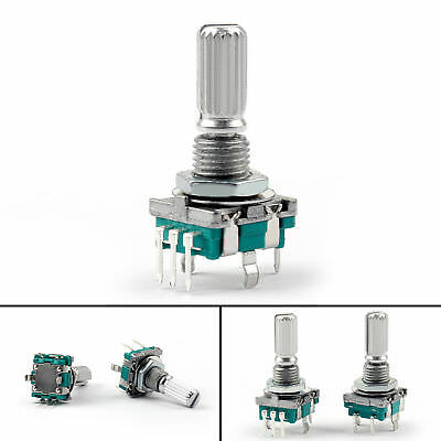 EC-11 Rotary Encoder Digital Potentiometer 20mm Knurled Shaft with Switch USA