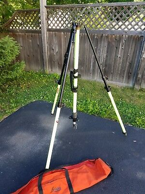 Seco Lecia Graduated Collapsible GPS Antenna Tripod - Flo Yellow 5119-00-FLY-L