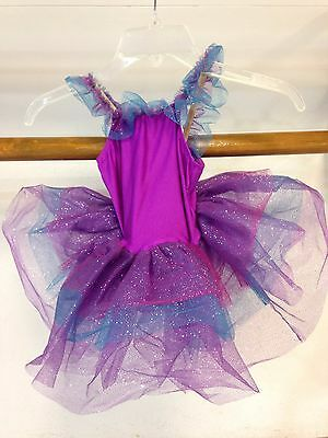 Ships FREE Girl's Purple And Blue Tutu Dance Dress - Size Small Child