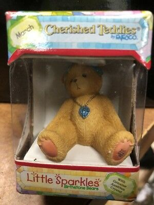 cherished teddies Little Sparkles 1996 Birthstone Bear March