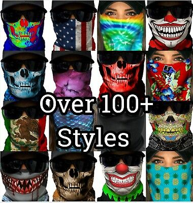 SA Face Mask Shield EDM Rave Mask SPF40 Tubular Bandana - CHOOSE ONE STYLE  SALE