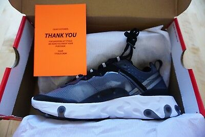 d70c2bef8eab Nike React Element 87 Anthracite Black Size US Mens 7 New DS In hand AQ1090-