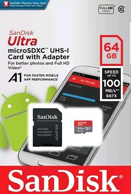 Genuine SanDisk Ultra 64GB 64 GB Micro SD Class 10 Memory Standard MicroSD Card