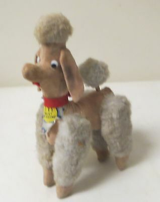 """Vintage 1950s PLUSH POODLE TOY """"FIFI BEST IN SHOW"""" with tags PINK & BLUE"""