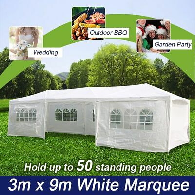 *VIC PICKUP* Wedding Gazebo Outdoor Marquee Party Tent 3m x 9m White Cooper