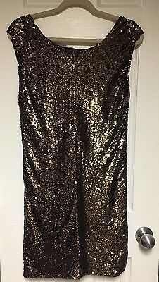 Nwt Armani Exchange Sequin Party V-back Dress Size 4