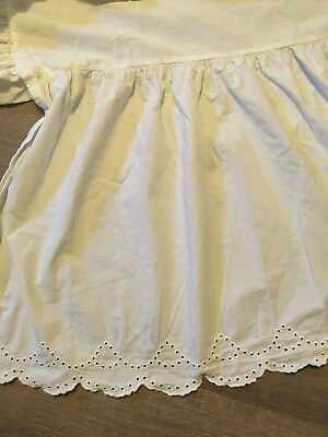 Simply Shabby Chic White Eyelet Twin Bed Skirt Dust Ruffle