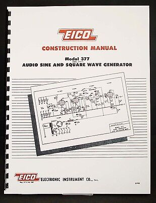 EICO Model 377 Sine and Square Wave Audio Generator  Construction Manual