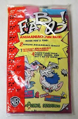 Vintage 1995 ANIMANIACS FUN PACK 2 COMICS + CASSETTE TAPE SEALED FABOO!