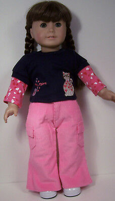 """Debs SILVER Sparkle Faux Sequin Shirt-Top Doll Clothes For 18/"""" American Girl"""