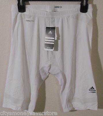 NWT Adidas ClimaCool Mens Tech-Fit PWed Compression Shorts 2XT White/Clear $65