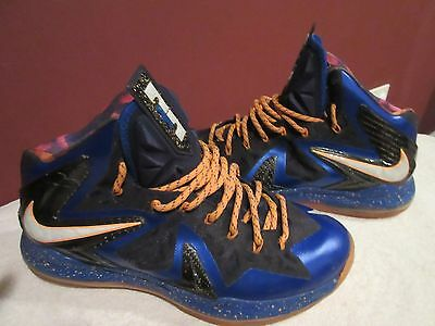 buy online 6a939 0f721 Nike Lebron X Elite Superhero Blue (579827 400) Basketball Sneakers Men s  10.5
