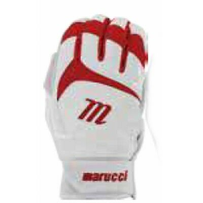 Marucci Signature Batting Gloves - White/Red - M - MBGSGN-White/Red-M