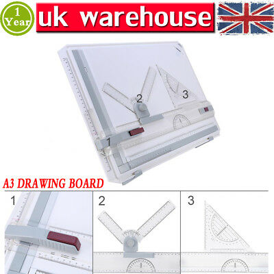 Multifunctional Office A3 Drawing Board Table Set With Magnetic Clamping Bar