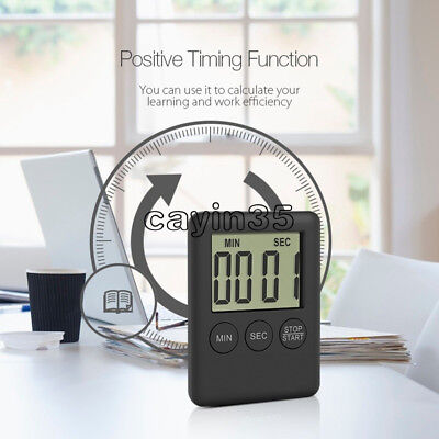 Large LCD Digital Kitchen Cooking Timer Count-Down Up Clock Loud Alarm Magnetic