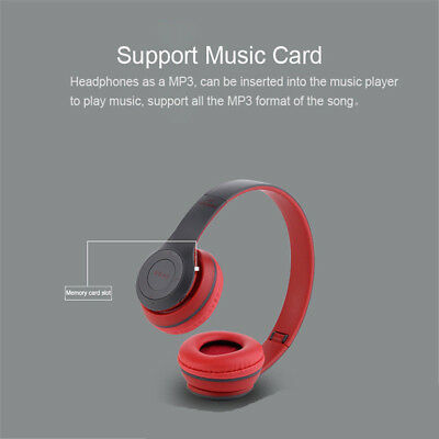 Wireless Bluetooth Foldable Headset Stereo Headphone Handsfree for Phones PC lot