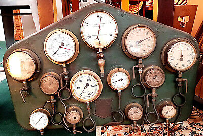 titanic link - 1900 1920s wall art - control meter panel - water pumping station