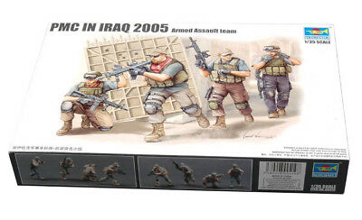 Trumpeter 9360419 PMC im Irak Fire Movement Team 1:35 Figuren Modellbausatz