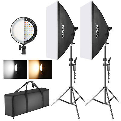 Neewer Studio Photo Bi-color Dimmable LED Softbox Lighting Kit with Softbox