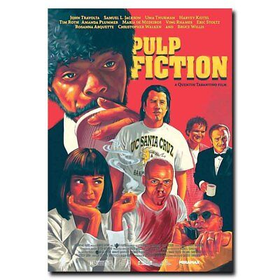 Pulp Fiction 12x17inch Classic Movie Silk Poster Cool Gifts Wall Door Decals