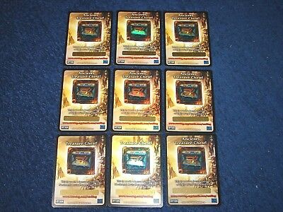 World Of Warcraft Wow Lot Of 9 Unscratched Treasure Chest Loot Cards (E5)