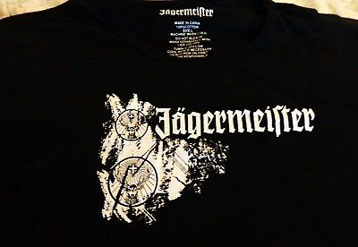 Jagermeister - Men's T Shirt - Primal Design on the Front - Men's Large - NEW