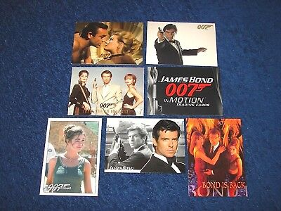 James Bond 007 Promo Card Lot Of 7 Different (E6)