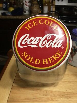 Coca Cola Old Fashioned Candy Store Cookie Jar Ceramic Lid