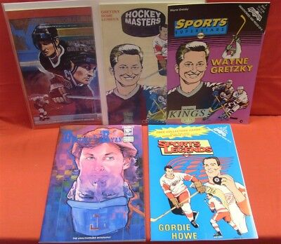 Sports Legends Superstars Celebrity Personality Hockey Sports Comic Lot Gretzky