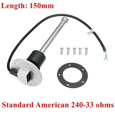 150mm Fuel Sending Unit Marine Boat Truck RV Water Level Sensor 240-33 ohms