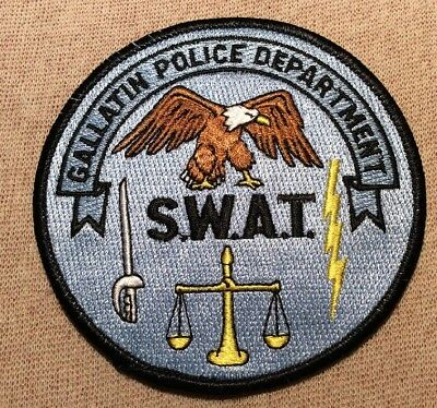 TN Gallatin Tennessee SWAT Police Patch
