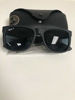 1dd07d594a9d1 Ray-Ban Justin BLUE Classic POLARIZED RB4165 622 2V Wayfarer Matte Black  54mm