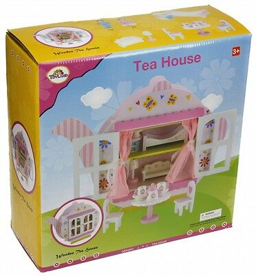 Wooden Teapot Dolls House Playset With Dolls & Accessories [Ages 3+] *BRAND NEW*