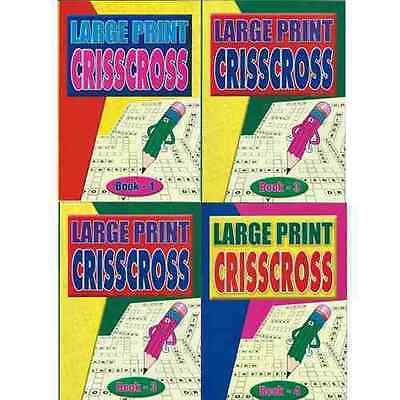 Set Of 4 A4 Large Print Criss Cross Books (64 Puzzles Per Book) **BRAND NEW**