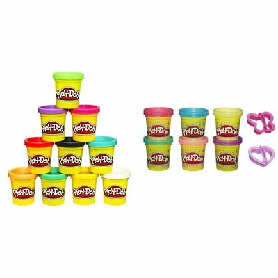 Play Doh 10 Pack of Colors with Play-Doh Sparkle Compound Collection Bundle